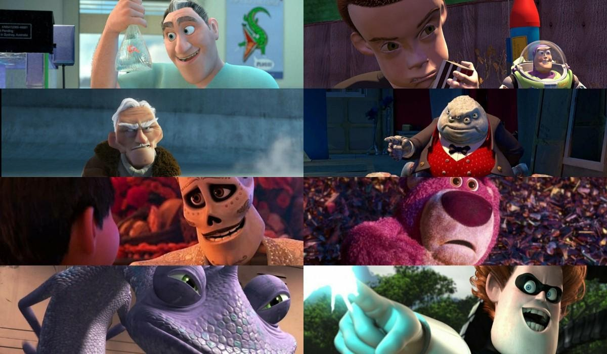 best Pixar villains Evil to Most Evil